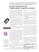 Le GHT - SUD Santé Henri MONDOR