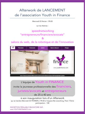 ! Afterwork de LANCEMENT de l`association Youth in Finance