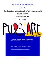 Télécharger le dossier de presse du Puls`art 2016