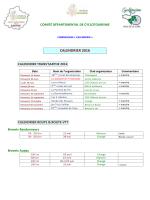 Calendrier 2016 : fichier pdf - Le Comité Départemental de