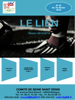 Bulletin football n°22 fevrier 2016
