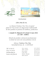 Invitation Dégustation de Printemps 2016