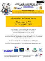 Résultats FITA Rennes 2 au 8 avril 2016