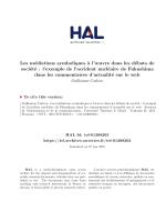 Les médiations symboliques à l`œuvre dans les débats - Hal-SHS
