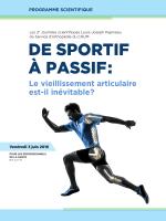 de sportif à passif - Centre hospitalier de l`Université de Montréal