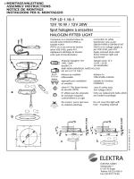 TYP LD 1.10-1 12V 10 W / 12V 20W Spot halogène à encastrer