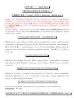 SPE MP ······ 2014-2015 PROGRAMME DE COLLE 11 COLLE 2 EN 1
