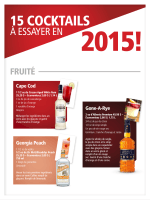 15 COCKTAILS - Alcool NB Liquor
