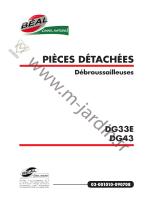 PIÈCES DÉTACHÉES Débroussailleuses - M