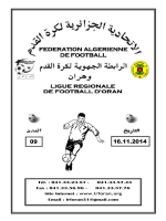 LIRE - Ligue Régionale de Football Oran