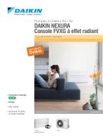 DAIKIN NEXURA Console FVXG à effet radiant