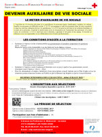 AUXILIAIRE DE VIE SOCIALE session 2015-2016
