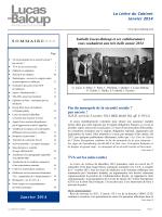 La Lettre du Cabinet Janvier 2014 Janvier 2014