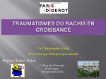 Traumatologie - Traumatismes du Rachis - Vidal - 15-09-2014