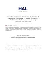 Clustering incrémental et méthodes de détection de nouveauté