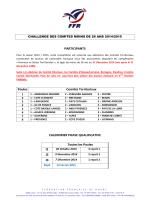 CALENDRIER 2014-2015 Challenge des comités M26