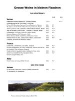 Les vins ouverts