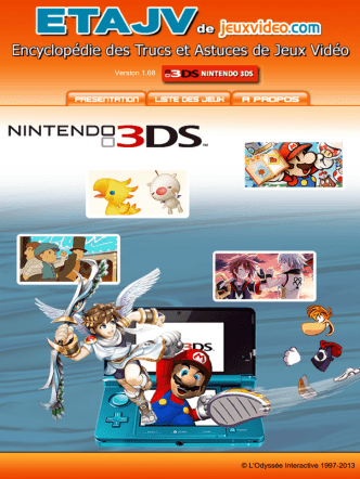 Astuces Solution ETAJV 3DS Games
