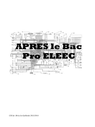 APRES le Bac Pro ELEEC