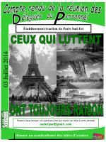 Compte Rendu DP E T Juillet 2014