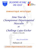 Palmarès Challenge Lajus Etchar Féminin