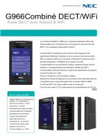 Documentation Poste DECT G966 NEC_fr