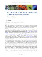 Du 1er au 15 juillet 2014 - Veille – Santé, Défense et sécurité