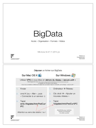 Acces au serveur securisé Bigdata