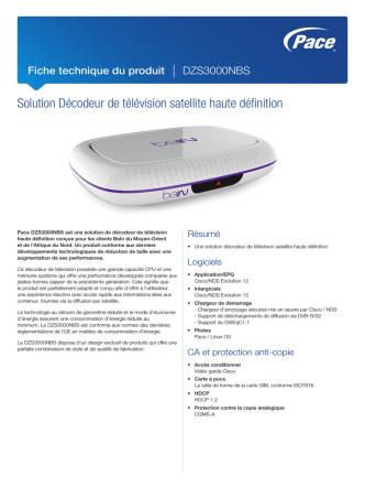 Datasheet - Pace DZS3000NBS