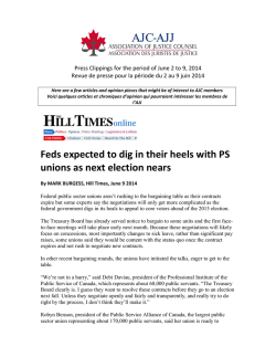 Feds expected to dig in their heels with PS unions as next election