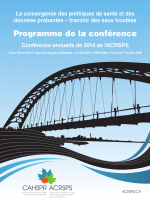 Programme de la conférence - Canadian Association for Health