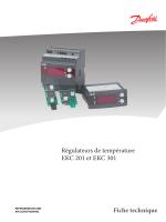 Régulateurs de température EKC 201 et EKC 301 Fiche