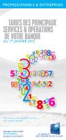Les tarifs applicables à partir du 1er janvier 2015