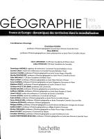 Franceet Europe: dynamiques des territoires dans la mondialisation