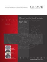 Mouvement mécatronique Mechatronic movement SOP 813
