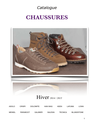 Catalogue Chaussures hiver 2014/2015