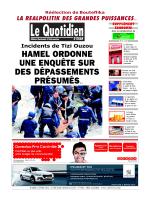LE QUOTIDIEN DORAN 22.04.2014