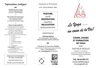 cours reguliers - YOGA ~ Nathalie Moulis