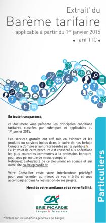 Barème tarifaire Particuliers applicable au 1er janvier 2015