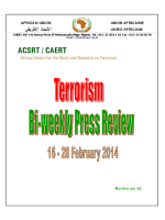 Bi-weekly Press Review 16-28 February 2014