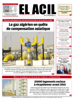 Le gaz algérien en quête de compensation asiatique
