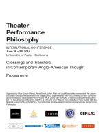 Theater Performance Philosophy