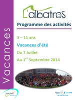 s Programme des activités