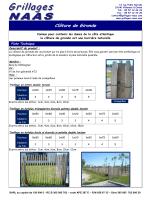 Modèles de clôtures