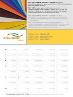 Cartas de colores POLI-FLEX PREMIUM - Poli-Tape