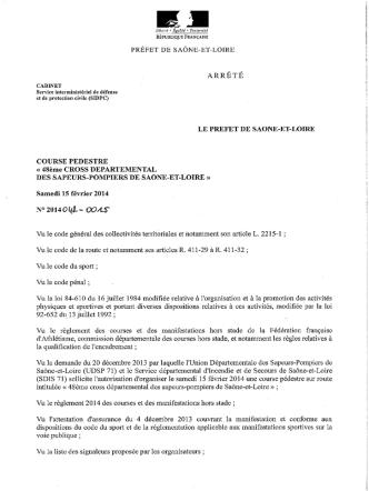 ARRÊTÉ - Services Etat Saône-et