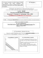 L2-S3 - MASS Examen de MICROECONOMIE Semestre 3 – Session 2