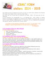 Le programme des ateliers 2014 / 2015 - Accueil - clamart-yoga