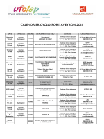 Calendrier Cyclosport