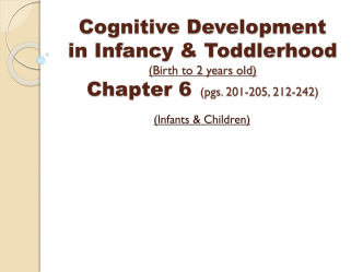 Cognitive Development in Infancy & Toddlerhood (Birth to …